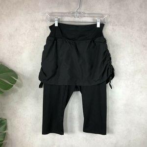 Spanx Convertible Skirt Control Top Capri Leggings